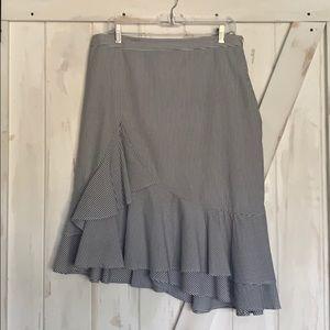 Banana Republic seersucker ruffled skirt- Sz. 12